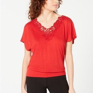 NWT flattering red top